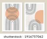 a trendy set of abstract...   Shutterstock .eps vector #1916757062
