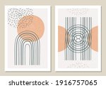 a trendy set of abstract...   Shutterstock .eps vector #1916757065