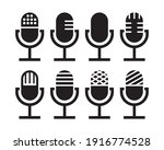 microphone icon set isolated on ...