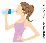 women who drink water | Shutterstock .eps vector #191677715