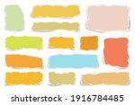 ripped colorful paper strips.... | Shutterstock .eps vector #1916784485
