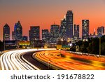 dallas skyline at sunrise | Shutterstock . vector #191678822