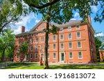 Hollis Hall In Old Harvard Yard ...
