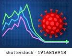 business chart and virus.... | Shutterstock .eps vector #1916816918