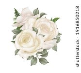 Water Colors Of Ivory Rose...