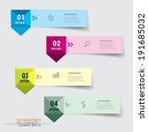 modern design infographics... | Shutterstock .eps vector #191685032