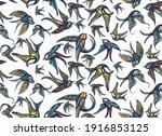 swallows birds  vector colorful ...   Shutterstock .eps vector #1916853125
