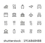hotel related vector icon set....   Shutterstock .eps vector #1916868488