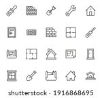 set of construction related... | Shutterstock .eps vector #1916868695
