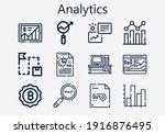premium set of analytics  s ...   Shutterstock .eps vector #1916876495