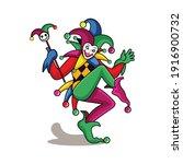 Joker Dancing With Magic Stick