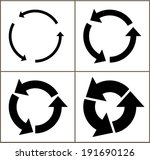 4 rotate arrow icon sign.... | Shutterstock .eps vector #191690126
