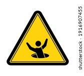 warning open hole sign and... | Shutterstock .eps vector #1916907455