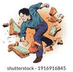 business breakthrough success....   Shutterstock .eps vector #1916916845