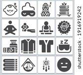 Lying Icons Set   Simple Set Of ...