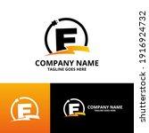 flash initial letter e logo... | Shutterstock .eps vector #1916924732