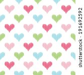 seamless heart pattern | Shutterstock .eps vector #191692592