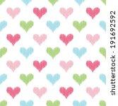 seamless heart pattern | Shutterstock .eps vector #191692592