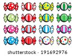 colorful sweet candies with... | Shutterstock . vector #191692976