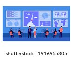 cosmic engineers monitoring... | Shutterstock .eps vector #1916955305