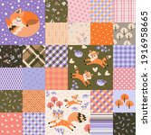 Cute Seamless Patchwork Pattern ...