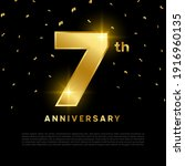 7th anniversary celebration... | Shutterstock .eps vector #1916960135