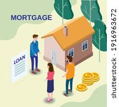 house mortgage concept ... | Shutterstock .eps vector #1916963672