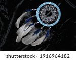 Blue Dreamcatcher With Natural...