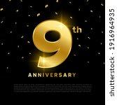 9th anniversary celebration... | Shutterstock .eps vector #1916964935