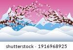 spring background with sakura...   Shutterstock .eps vector #1916968925