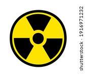 Radiation Icon Danger Logo...