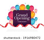 grand opening invitation... | Shutterstock .eps vector #1916980472