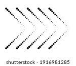 sideways. dotted sign. arrow... | Shutterstock .eps vector #1916981285
