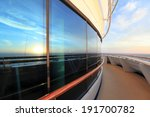Sunset In Atlantic Ocean From...