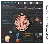Brain And Nervous System Medical Infographic Infochart Design Template