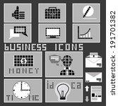 business icons set.  vector... | Shutterstock .eps vector #191701382