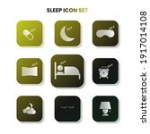 nine sleep icons in one set...