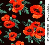 seamless pattern with red... | Shutterstock .eps vector #1917022382