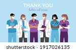 thank you heroes  group of...   Shutterstock .eps vector #1917026135
