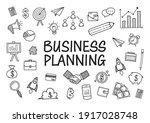 business doodles hand drawn... | Shutterstock .eps vector #1917028748
