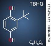 tbhq  tert butylhydroquinone ... | Shutterstock .eps vector #1917034835