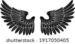 a pair of wings possibly...   Shutterstock .eps vector #1917050405
