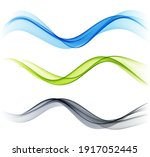 set of color abstract wave... | Shutterstock .eps vector #1917052445