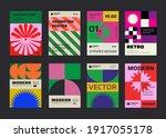 modern aesthetics posters... | Shutterstock .eps vector #1917055178
