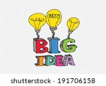 big idea light bulb ... | Shutterstock .eps vector #191706158