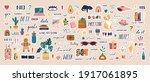 big collection of trendy... | Shutterstock .eps vector #1917061895