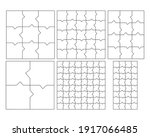 unusual abstract blank jigsaw... | Shutterstock .eps vector #1917066485