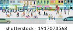 life and leisure in an old city ...   Shutterstock .eps vector #1917073568