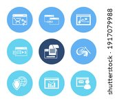 website icon set and user...