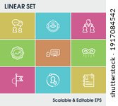 hr icon set and roles with kpi  ...